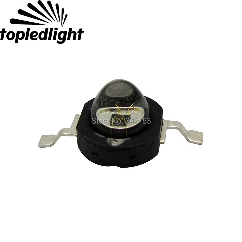 Topledlight High Power 1W 850NM Infrared IR Energy Saving Led Emitter Light Beads 60 Degree Viewing Angle For CCTV Cameras