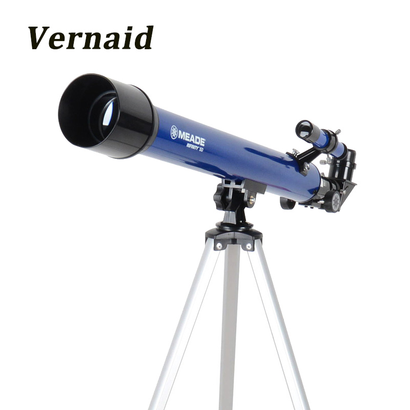 Meade Instruments Infinity 50mm AZ Refractor Telescope Compact Tripod Space Telescope Moon Bird Watching Monocular free delivery children with monocular space telescope 600 50mm