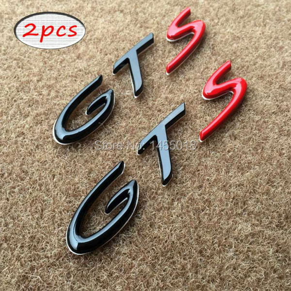 metal gts letters special edition emblem tail badge sticker for porsche cayenne cayman boxster