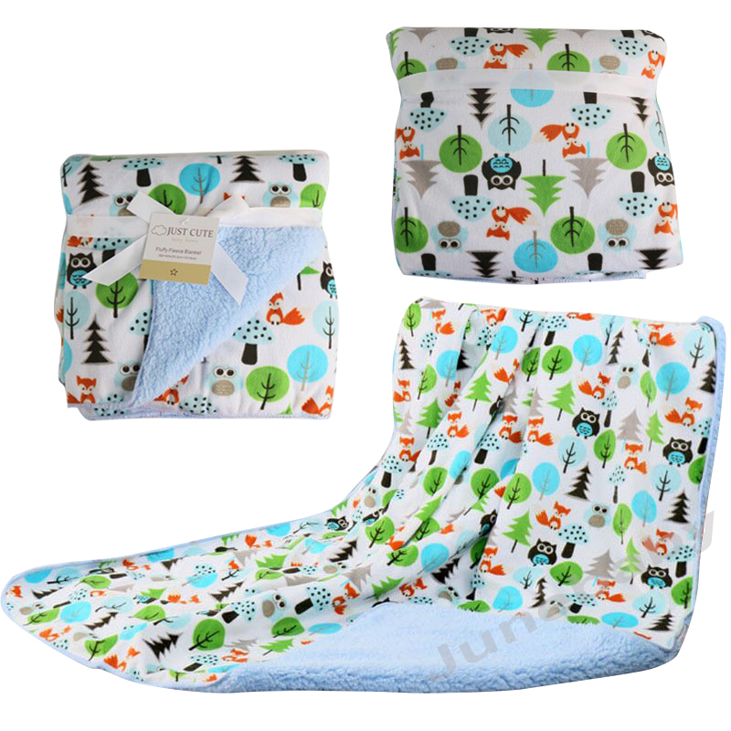 Baby Blankets 2016 New Thicken font b Double b font Layer Fleece Infant Swaddle Bebe Envelope