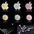 1x Bling Do Cristal Deco Home Button e por trás Do Logotipo Do Decalque Adesivos Para iPhone4 5 5C 5S 6 6 Plus