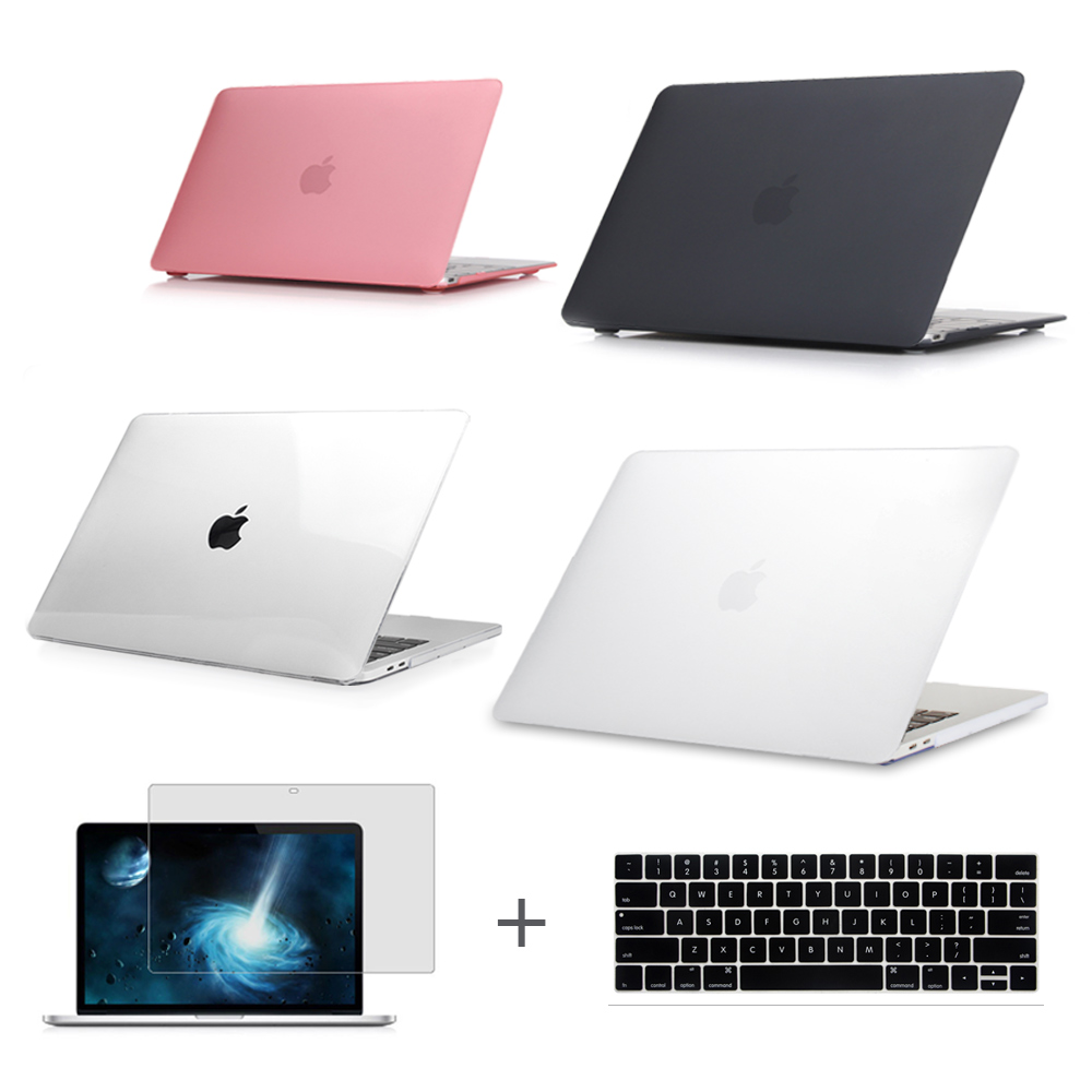 For New MacBook Pro 13 15 Case 2016 2017 A1706 A1708 A1707 w/out Touch Bar & Retina Clear Crystal Matte Hard Case Air 13.3 enkay matte hard protective case for macbook pro 13 3 light blue