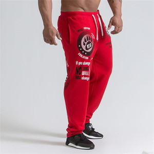 Image 5 - 2019 חדש גברים רצים מוצק צבע ספורט מכנסיים גברים כושר מכנסיים כותנה אלסטי ארוך מכנסיים גברים שרוכים ספורט מכנסיים זכר חותלות