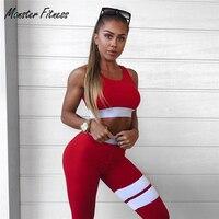 Monster Fitness New Yoga Sports Bra For Womens Gym Running Tank Top Vest Shockproof Sport Bras
