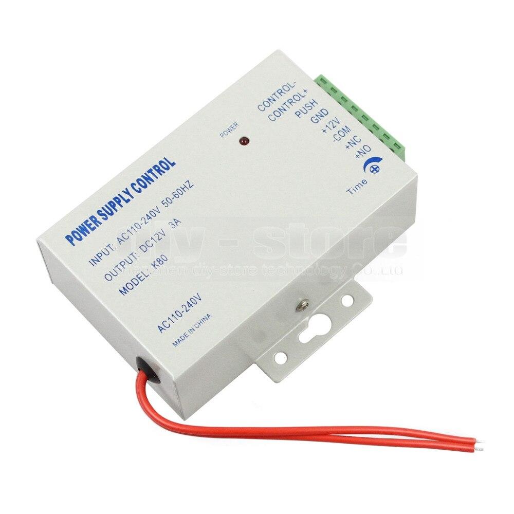 DIYKIT Remote Control 125KHz RFID LCD Fingerprint Keypad ID Card Reader Access Control System Kit + Electric Bolt Lock 208I-S