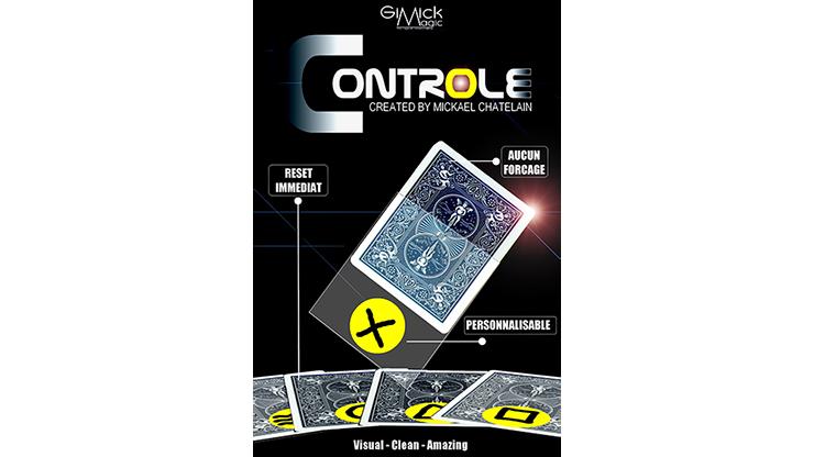 CONTROLE (Gimmicks + instruction en ligne) par Mickael châtelain-tours de Magie, carte Magia, Illusions, gros plan, mentalisme, Magie de rue
