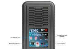 SKYRC e430 Balance Charger 2-4 cells lipo life Battery 30W 1A/2A/3A 100-240V AC Battery Charging Original