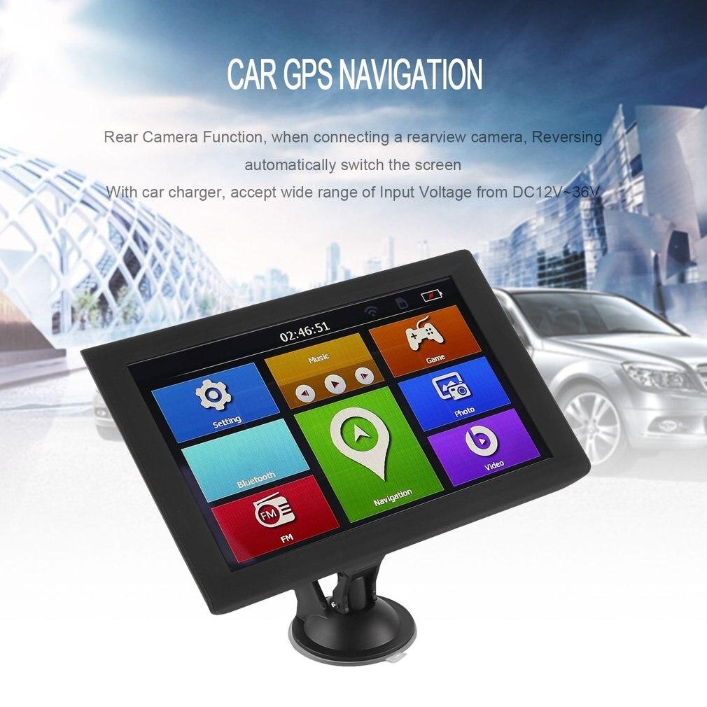 9 S900 Caminhão Do Carro HD de Navegação GPS 256 m + 8 gb Invertendo Câmera Touchscreen Navegador FM Com Precisão a Posição do preto