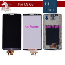 lcd complete Screen for LG G3 LCD Touch Screen Digitizer Assembly for LG G3 Display D850 D851 D852 D855 D858 Replacement grey lcd display with touch screen digitizer panel assembly complete for lg g3 d855 d850 replacement free shipping