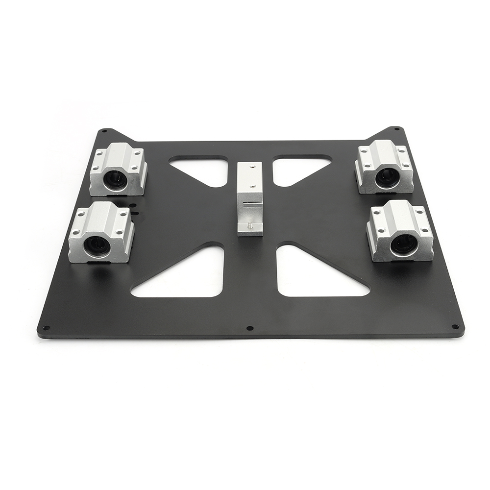 Aluminum Y-Carriage Anodized Hot Bed Support Plate With SC8U For Prusa i3 RepRap as 3D Printer Parts