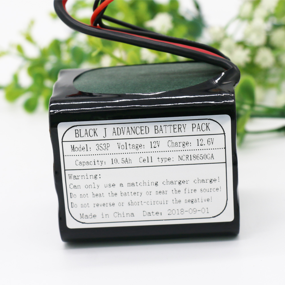 KLUOSI UAV 12V Li-ion Battery 11.1V /12.6V 10500mAh 3S3P Use Single Cell NCR18650GA Combination Suitable for Various Drone