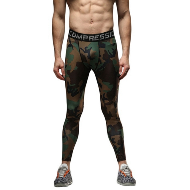 Men's Elastic Tights for Exercise and Workout