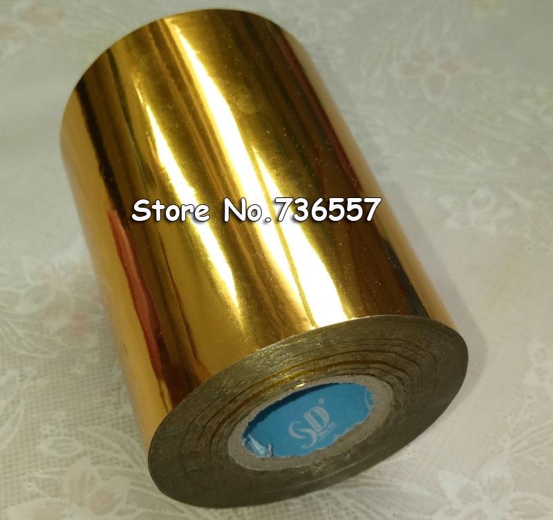 1 Rollen Goldene Farbe 80mm X 120 Mt Heißprägefolie Heat Transfer Servietten Vergoldung Pvc-visitenkarte Relief GüNstige VerkäUfe