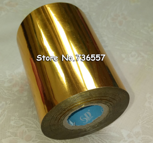 1 Rouleaux Dor Couleur 80mm X 120 M Estampage Chaud Foil Heat Transfer