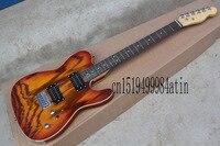 Top quality TELE Ash veneer light brown telecaster Electric Guitar Rosewood fingerboard guitar