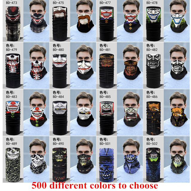 Party Face Masks Unisex Women Men Multicolor Magic Head Face Mask Neck Kids Headwear Motorcycle Cycling Tube Scarf Headband F8 4
