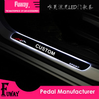 Free Shipping!!2pcs Car Led moving door scuff car pedal door sill plate steps light welcome pedal for Lexus rx350 gx470 gs300 IS