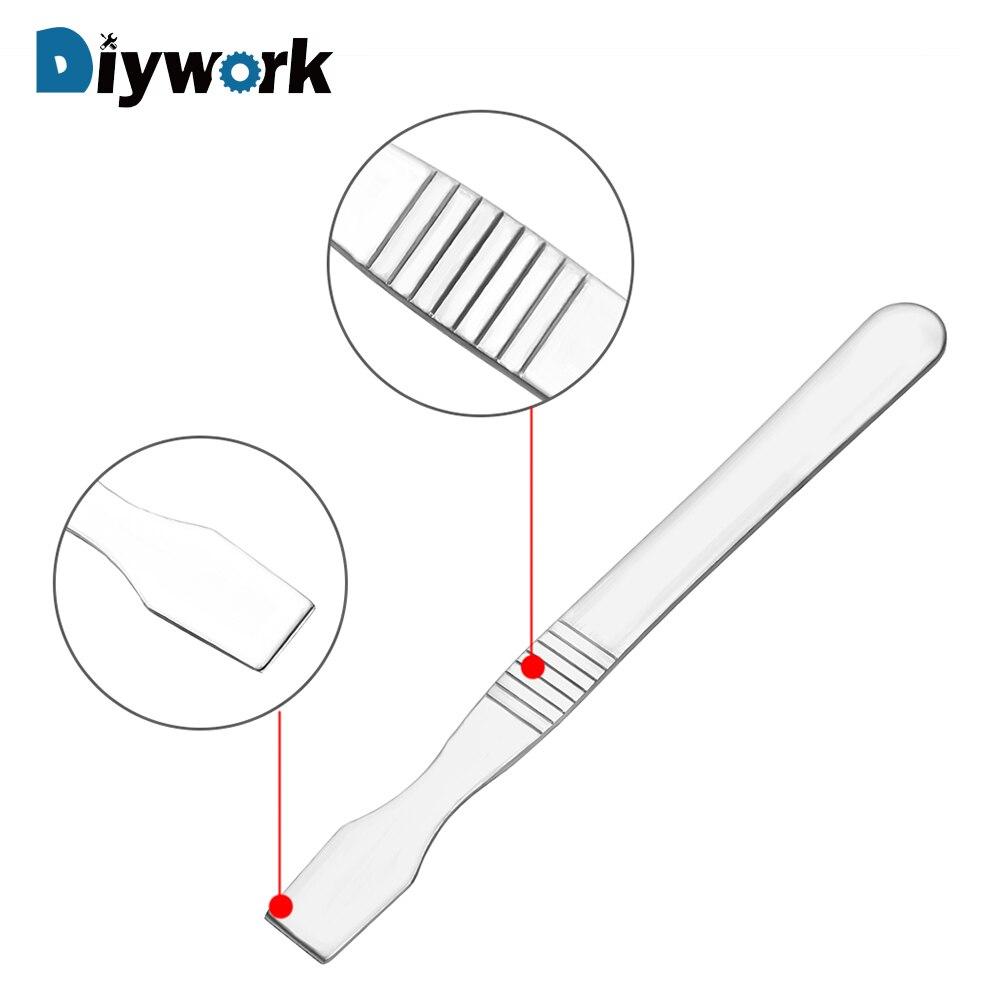DIYWORK Pry Open Repair Scraper Tin Scraping Mixing Knife Mobile Phone Repair Tools Metal Crowbar Metal Solder Knife