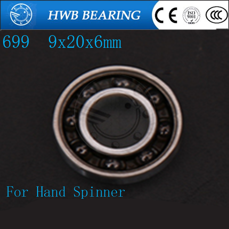 Fingertip gyro finger spiral stainless steel hybrid ceramic bearings 699 9x20x6mm R188 1/4x1/2x3/16 For Hand spinner casio mtp e101d 2a