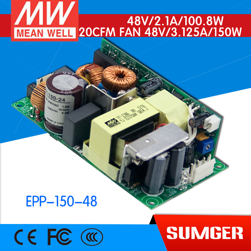 [CB]MEAN WELL original EPP-150-48 10Pcs 48V 2.1A meanwell EPP-150 48V 100.8W Single Output with PFC Function [mean well1] original epp 150 15 15v 6 7a meanwell epp 150 15v 100 5w single output with pfc function