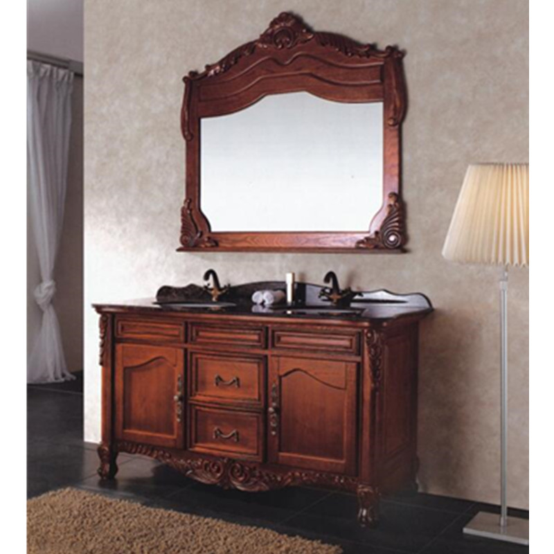 Luxe dubbele wastafel badkamer vanity kabinet in Luxe dubbele ...
