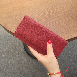 Image 5 - Genuine Leather Women Wallet Fashion Solid Color Coin Purse Multifunctional Cowhide Female Long Women Purses Zipper Card Holder