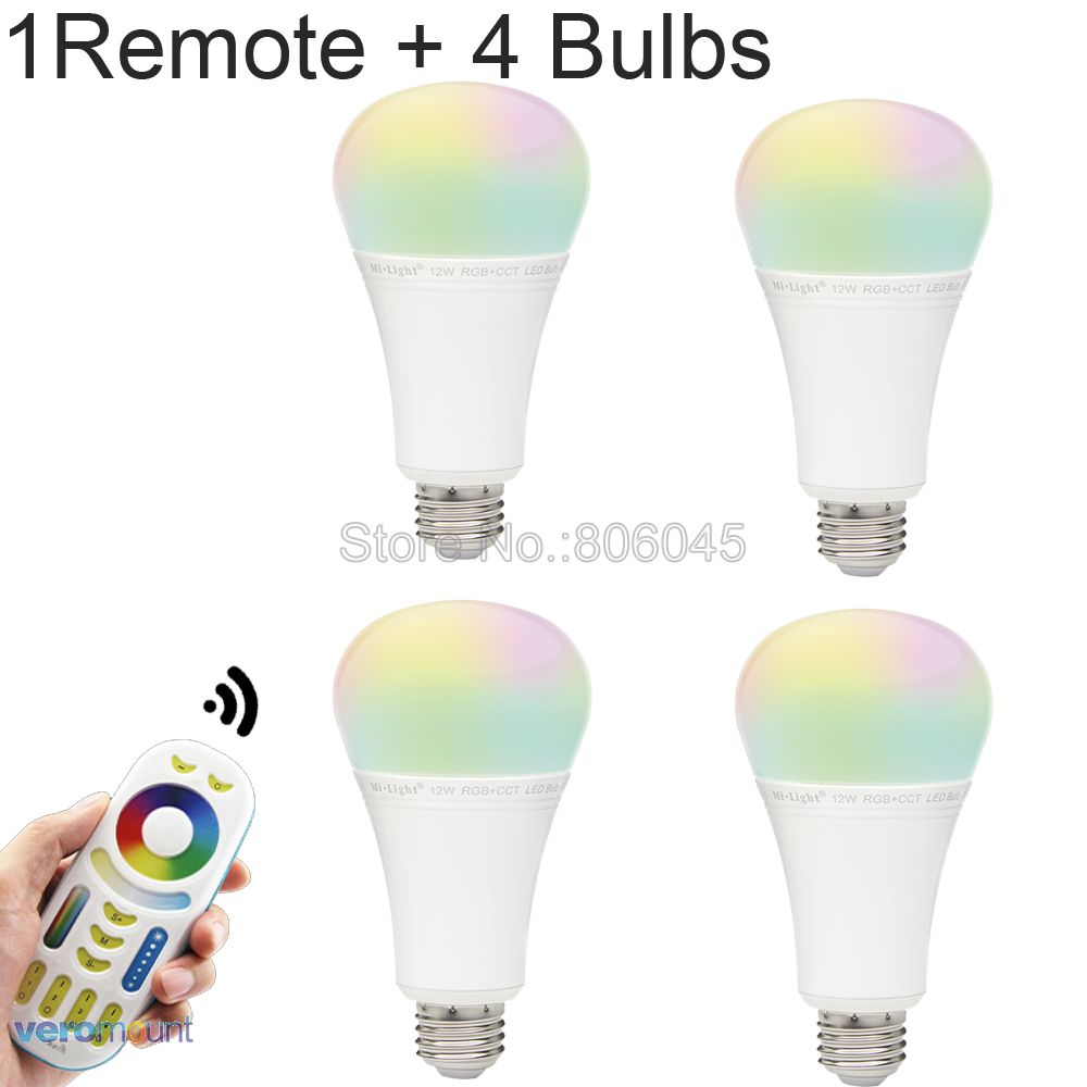 MiLight LED Lamp 12W RGB+CCT LED Bulbs Light Dimmable E27 <font><b>FUT012</b></font> AC86-265V Spotlight 2.4G Wireless Smart Phone APP Control image