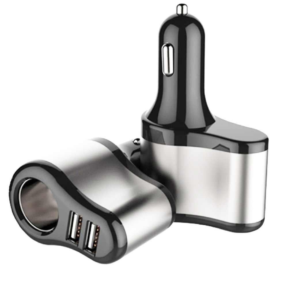 EAFC 12V-24V Car Dual USB Charger Cigarette Lighter Socket Car Charger Adapter 5V 3.1A Charge for iPhone MP3 DVR Pad