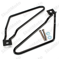 Motorcycle Bike Black SaddleBag Bracket Support For Harley Sportster 883 Iron Dyna Fat Bob FXDF FXST XL