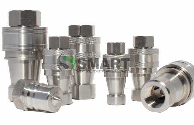 free shipping  1set  KZF G1 inch  hydraulic Hose Quick Coupling stainless steel Material Connector hydraulic quick coupler 10mm x 12mm od24mm l55mm single universal joints coupling stainless steel connector crossing coupler rc car boat model wholesale