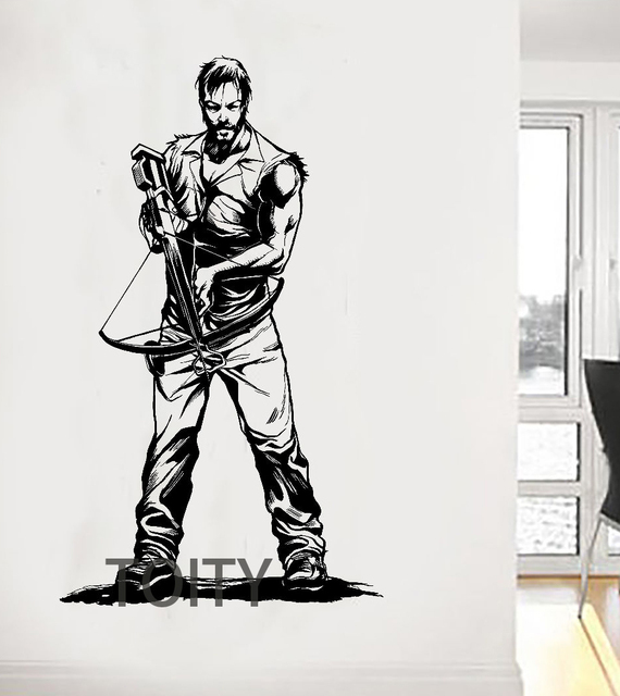 Daryl Dixon With Crossbow Wall Sticker The Walking Dead