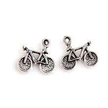50 pieces of outdoor sports bicycles, silver jewelry pendants, jewelry, glamour