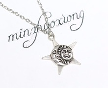 10pcs New Fashion Moon Charm Choker ,Sun&Star&Moon Pendant Necklace Vintage Wicca Pagan Goth Jewelry