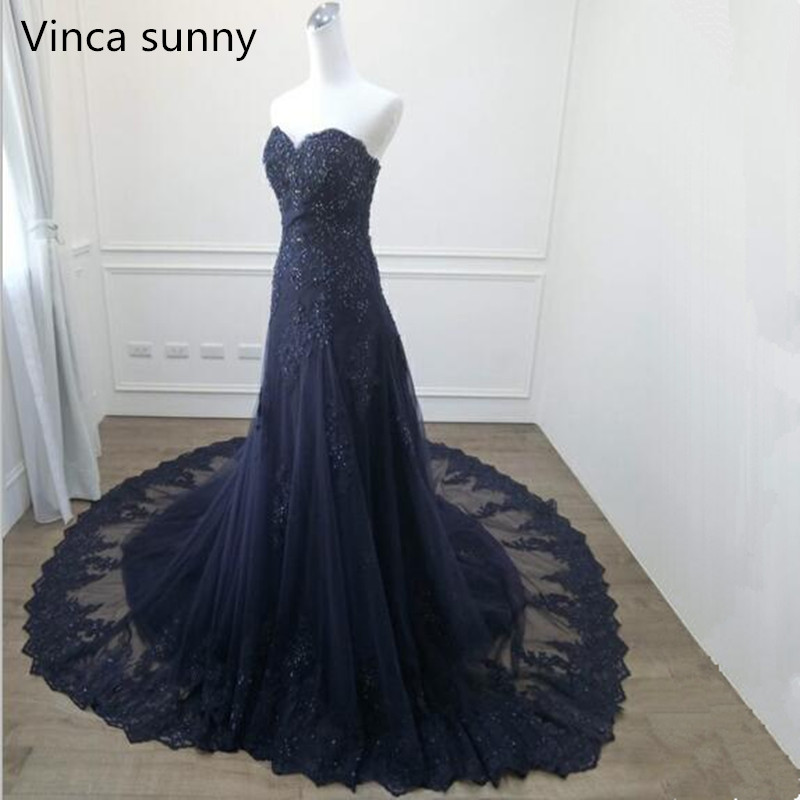 Vinca sunny Fashion   Evening     Dresses   Long 2019 Sweetheart Lace Mermaid   Evening   Gown Prom   Dresses   Robe de Soiree abendkleider