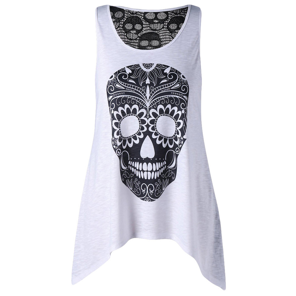 Sexy Vest T-Shirt Camisole Crop-Top Streetwear Femme Womens Fashion Cotton Ladies Sleeveless