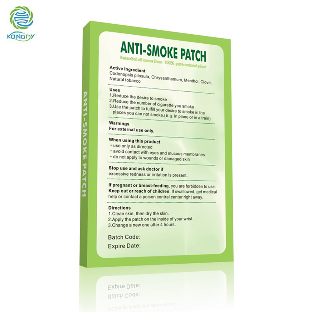 KONGDY Anti Smoke Patch 100% Natural Ingredient 30 Pcs/Box Smoking Cessation Pad Natural Herbal to Give Up Cigarette Plaster 3