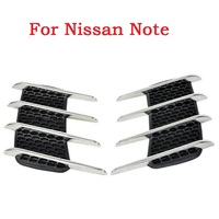 Car Shark Gills Exterior Decor Side Air Intake Flow Grille Vent Outlet Decorative Car Styling Modification
