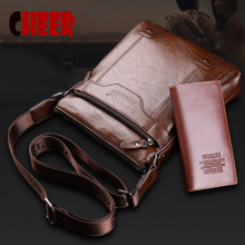NEW vintage Men's bag shoulder crossbody bags for men messenger bag men leather Pu hand bag  Multi-piece sets small male handbag