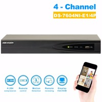 Original English Version NVR DS 7604NI E1 4P 4CH 4POE Support Onvif 5MP Network Video Recorder