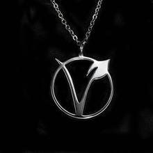 Unisex VEGAN symbol pendant necklace