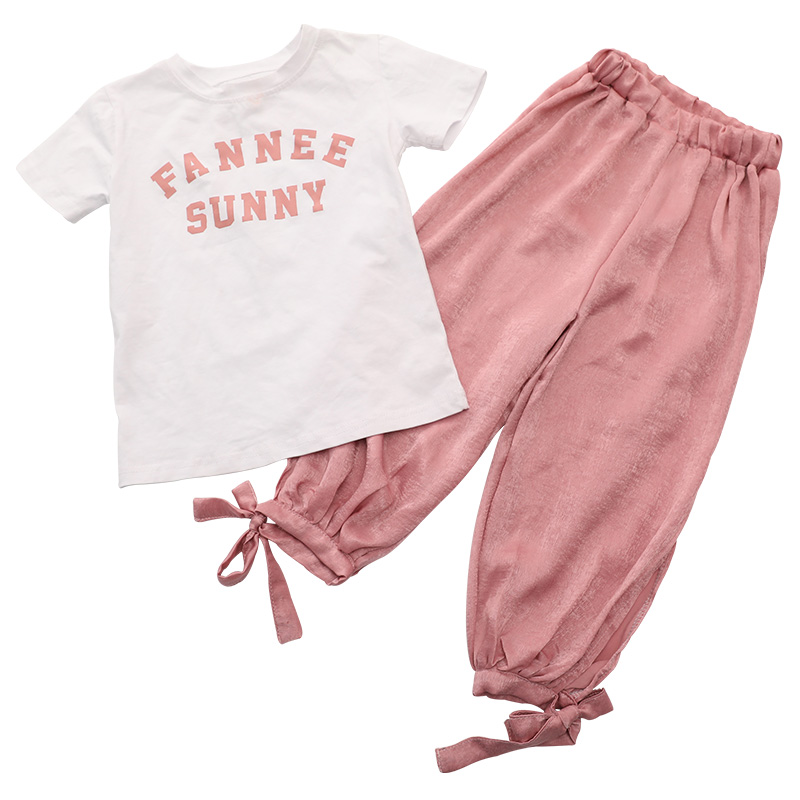 Summer Girls Clothes Sets Baby Girl Short Sleeve Shirt Top pants Suits Kids Clothing Printed Children 39 s Clothes 2pcs in Clothing Sets from Mother amp Kids