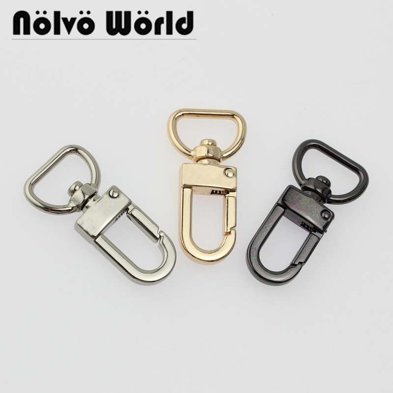 100pcs 4 colors accept mix color 44X16mm 5 8 swivel hook snap clips for luggage tag