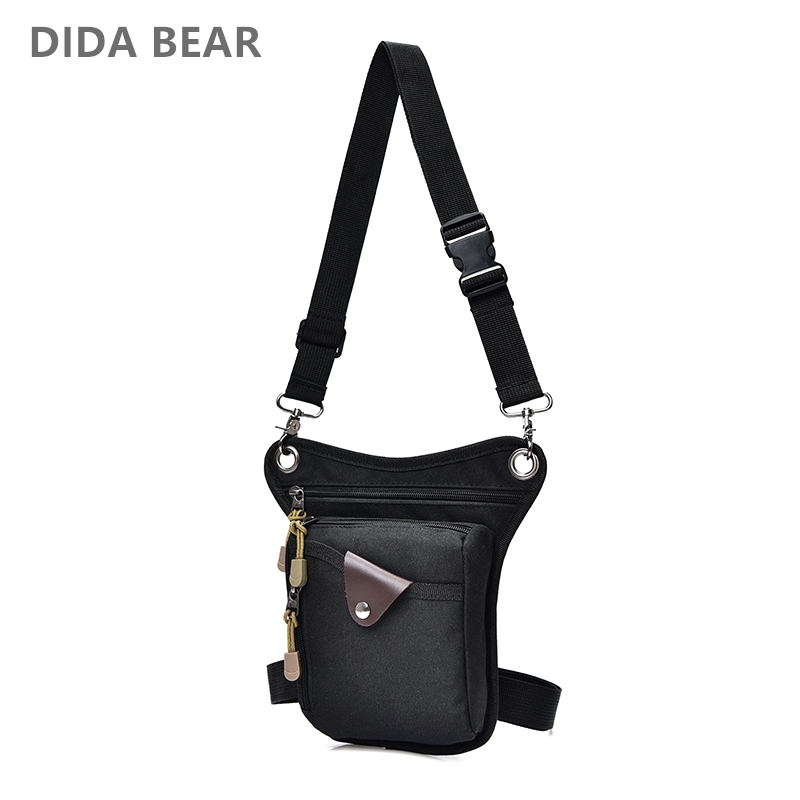 DIDABEAR Brand 2018 New Men Canvas drop waist bags Leg pack bag for work Men Messenger bags Male Crossbody Shoulder Bag Khaki