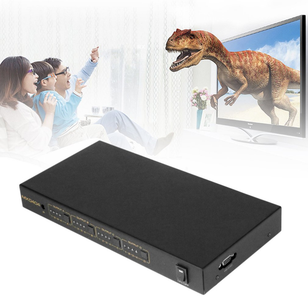 Ultra-high Resolution HDMI Matrix 4x4 4 in 4 out HDMI Splitter Switcher 3D 4kX2K RS232 without Remote control Support Blu-ray цена
