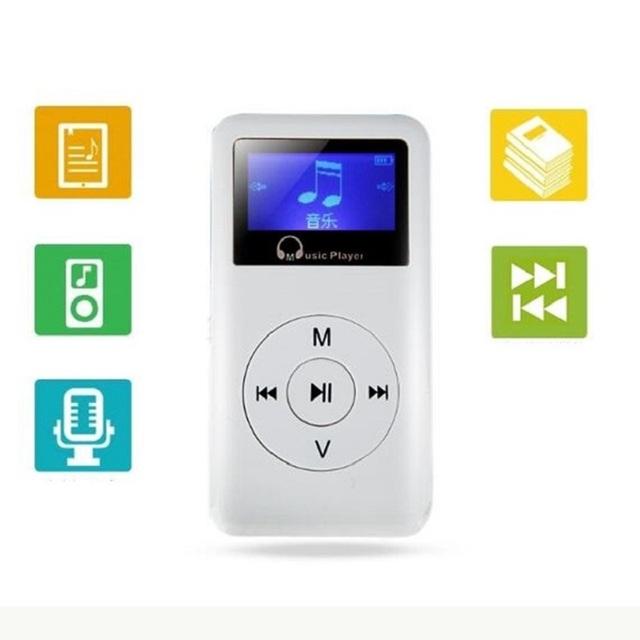 Alta Calidad de alta Fidelidad Lossless 8 GB Mini MP3 Reproductor de Música con Pantalla de Velocidad Variable Deporte Reproductor de Música mp3 de Grabación Portátil