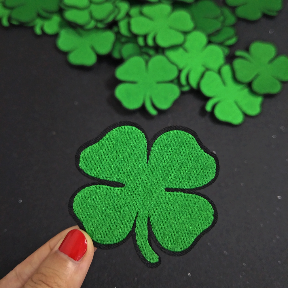 Irish Clover green patch for lucky Iron On Patch Embroidered Accessories Badge