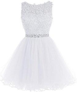 Image 5 - ANGELSBRIDEP seksi kısa/Mini mezuniyet elbiseleri 2020 aplikler boncuk Vestidos Cortos özel durum mezuniyet elbiseleri