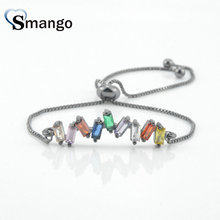 Women CZ Bracelet, Fashion Jewelry, 2019 New Arrival! The Rainbow Series,Four Colors,Can Wholesale,5Pairs