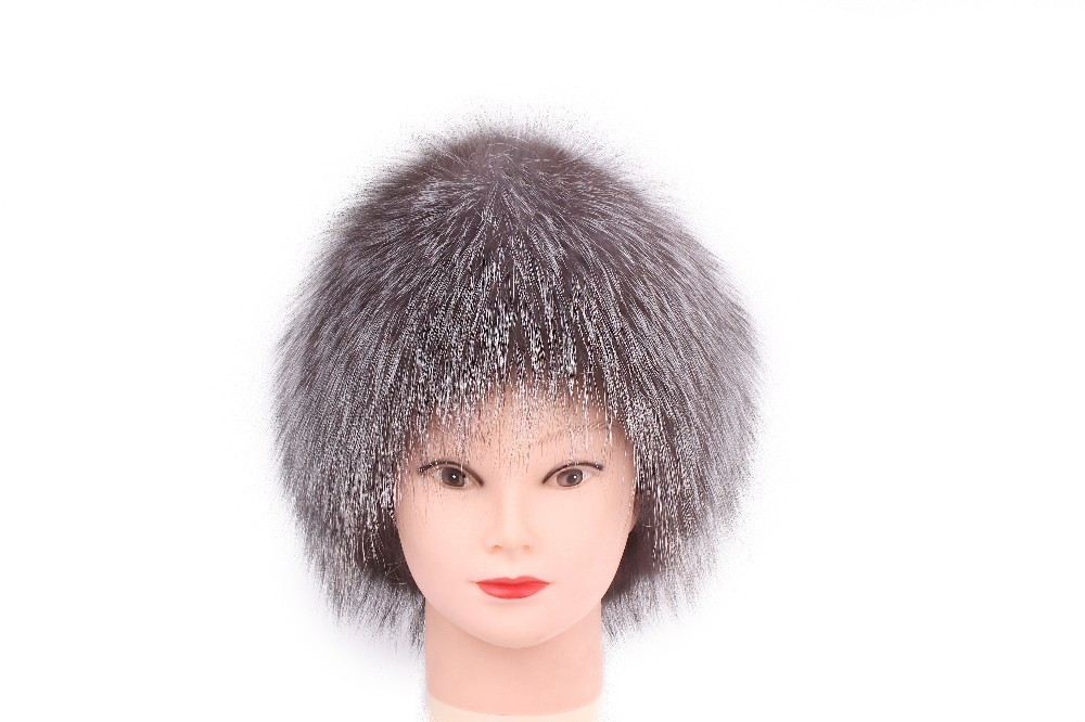 Women Mongolian 100% Real Natural Fur Silver Red Fox Hat with Fox Tail Lady Winter Warm Hats for Soft Hairy Cap