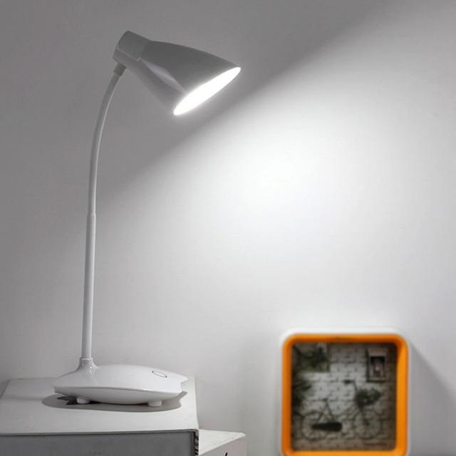 Adjule Brightness Led Desk Lighting Reading Home Office Flexible Neck Lamp Usb Rechargeable Clh 8